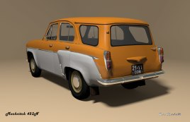 1958 Moskvitch-MZMA 423N orange white rear