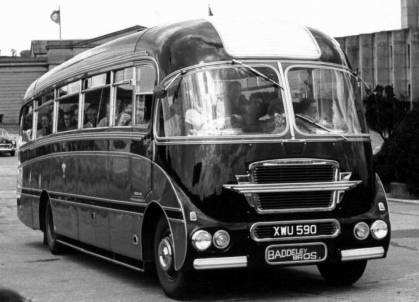 1959-64 Bedford SB3 H.V. Burlingham Seagull C41F seats