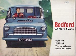 1960 Bedford CA MK II 10-12cwt amp 15 ad