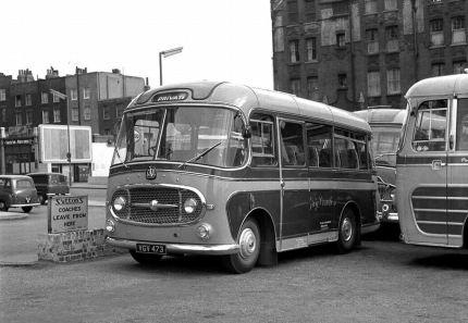 1960 Bedford J2SZ10 with Plaxton Embassy C18F body