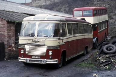 1960 Bedford SB1 with Burlingham Seagull 60 bodywork