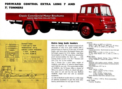 1960 Bedford TJ & TK brochure From David Dalton's collection. 27 pictures