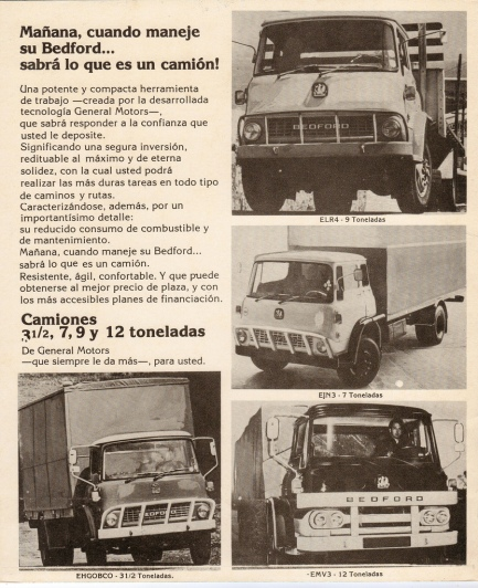 1960 Bedfords sold in Uruguay
