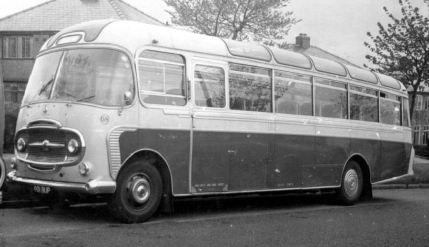 1961 Bedford SB1 Plaxton SB1 C41F seats May - Nov 1961 & as No.68 in Jun - Oct 1962