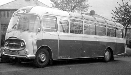 1961 Bedford SB1 Plaxton SB1 C41F seats May - Nov 1961 & as No.68 in Jun - Oct 1962
