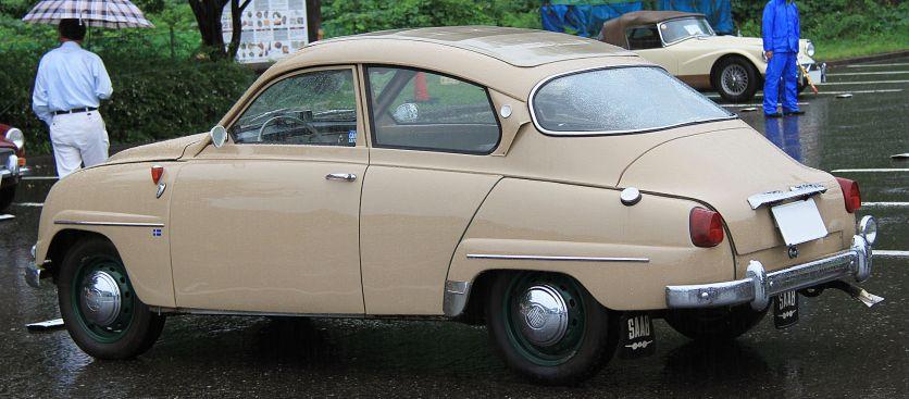 1961 Saab 96 with sunroof