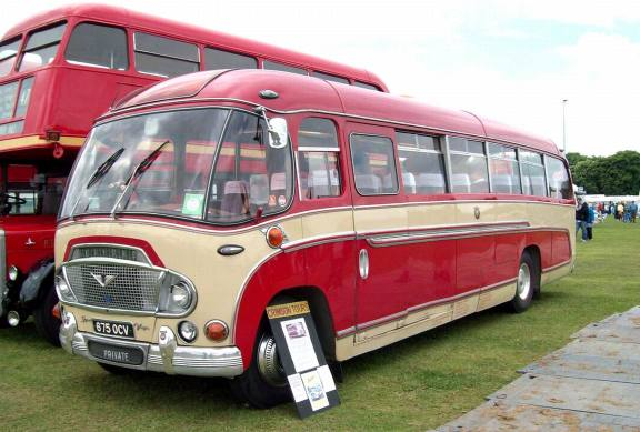 1962 Bedford Super Vega Coach Engine 7630cc Registration 675 OCV
