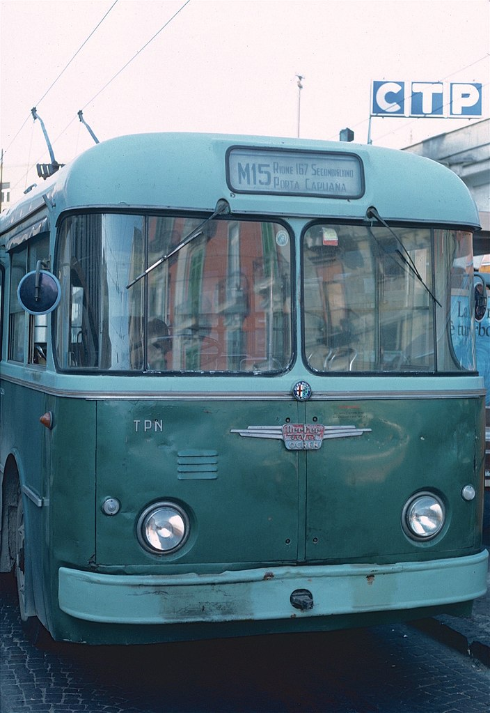 1962 CTP Alfa Romeo trolleybus 18 in 1985