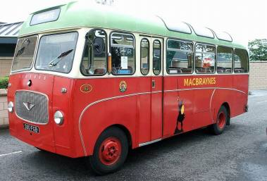 1963 Bedford coach 380FGB - used by Northern Constabulary Pipe Band