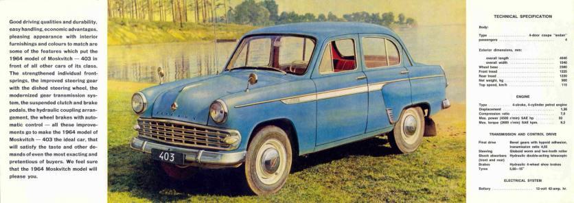 1964 Moskvitch model 403 a
