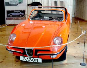 1964 SAAB Catherina is a prototype vehicle made in 1964. It was designed by Sixten Sason and built at Aktiebolaget Svenska Järnvägsverkstäderna (ASJ) in Katrineholm, Sweden