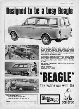 1965 Bedford Beagle ad