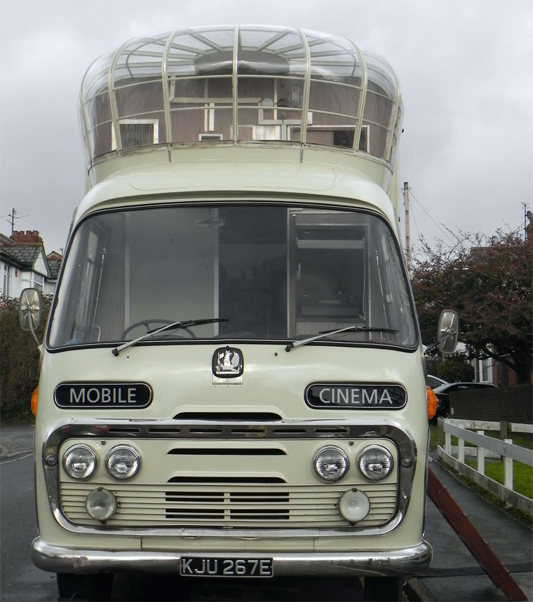 1967 Bedford Mobile Cinema. Reg No KJU 267E.