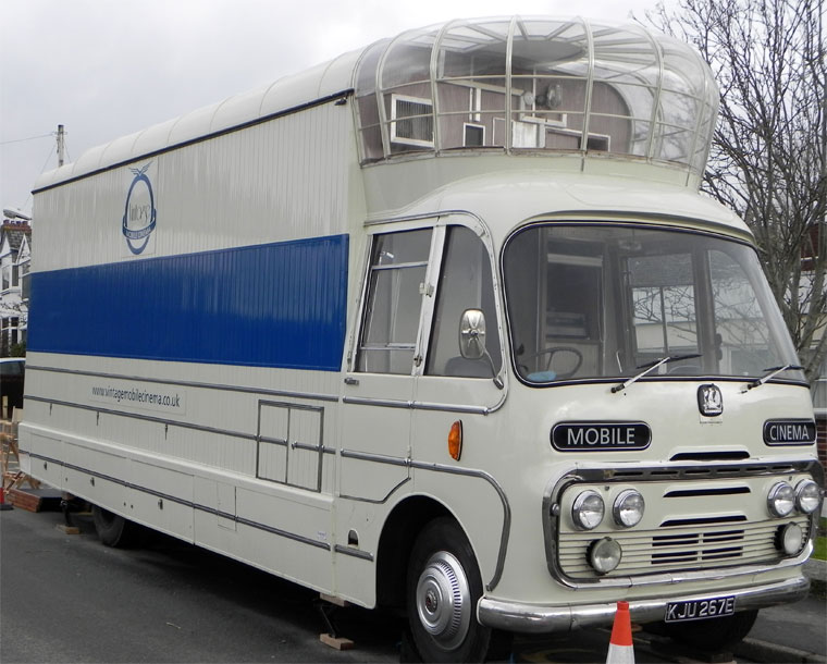 1967 Bedford Mobile Cinema. Reg No KJU 267Ea