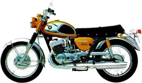 1967 Suzuki T500cc Dual Stroke