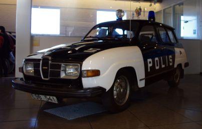1970 Saab 95 police car