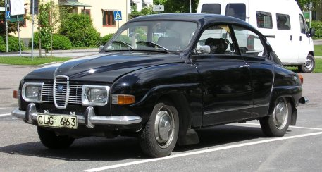 1971 Saab 96 V4 front.
