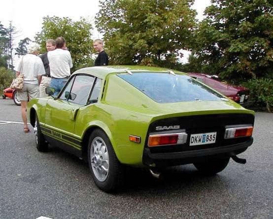 1972 Saab Sonett III in green rear