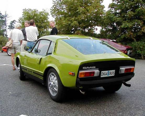 1972 Saab Sonett III in green rear