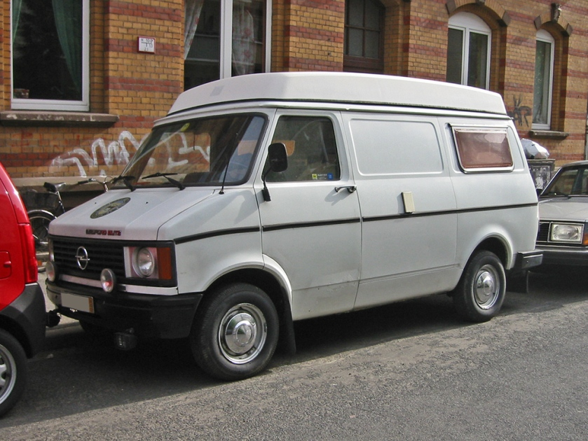 1973-1987 Opel Bedford Blitz built in the United Kingdom and sold in Europe like Opel