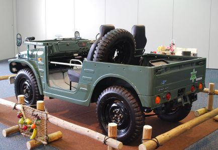 1973 Suzuki Jimny LJ20, note spare tire placement