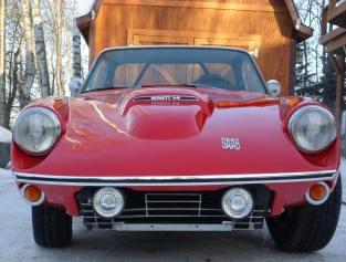 1974 Saab sonnet red