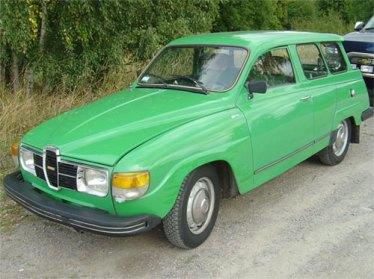 1978 SAAB 95 in Jade green