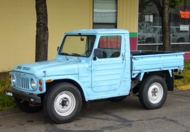1979 1st generation of Suzuki Jimny LJ80P pickup, photoed in Indiana, U.S.A.