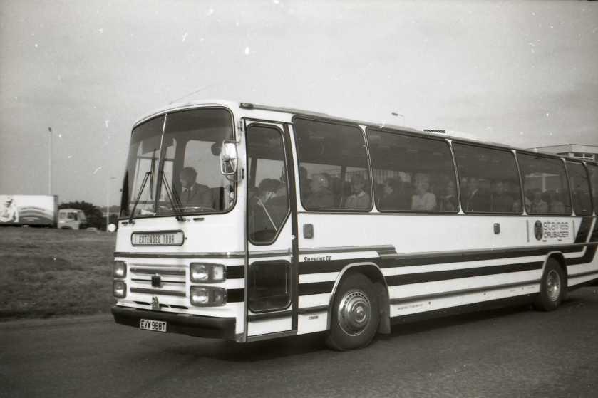 1979 Staines Crusader Bedford YMT - Plaxton, EVW 988T. Aug 1979