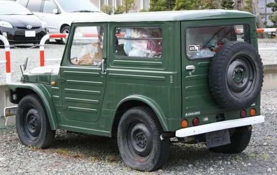 1979 Suzuki Jimny SJ20 hardtop front and rear