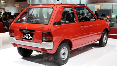 1979's the first generation Suzuki Alto SS30V van rear