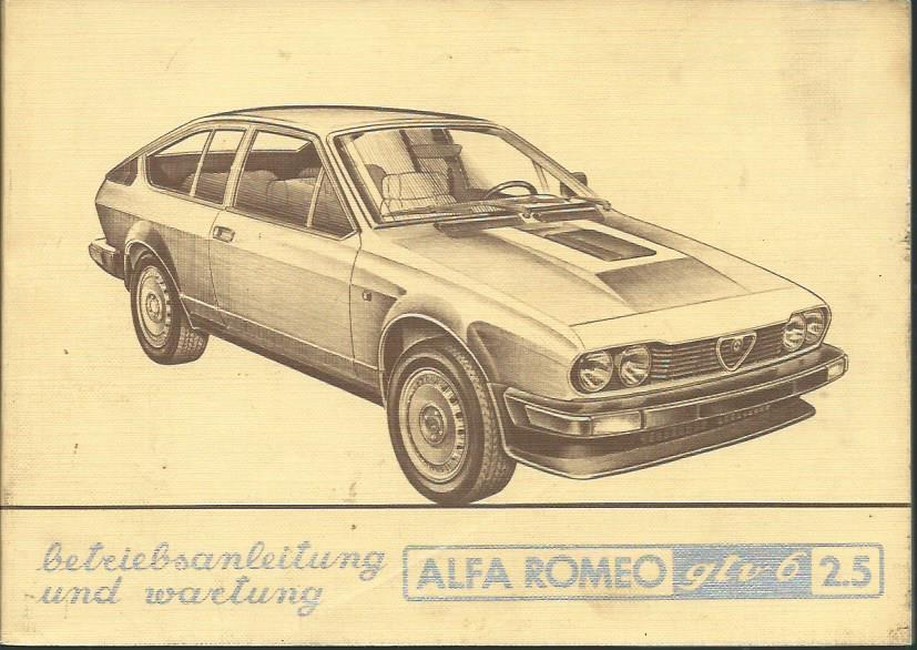 1980 Alfa Romeo GTV 6 2,5 brochure
