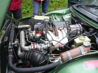 1980 Saab 99 turbo-engine