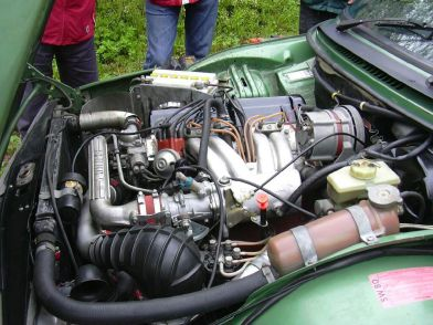 1980 Saab 99 turbo-engine
