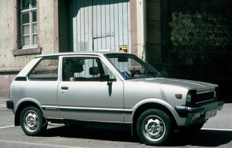1980 Suzuki Alto (SS80S), European market, note the big export bumpers and the 12-inch wheels