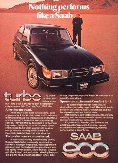 1982 SAAB 900 Turbo Advert