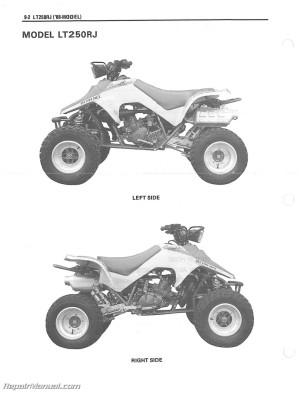1987-1992 Suzuki LT250R Quad Racer ATV