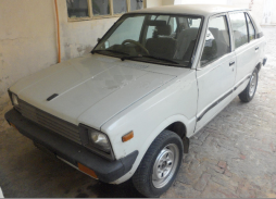 1987 Suzuki FX (SS80S), Pakistan, note the facelifted square front lights and extended plastic bumpers