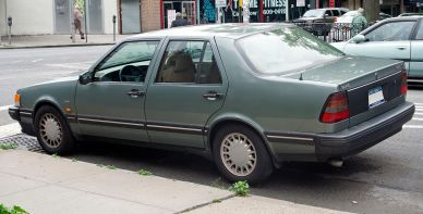 1987–1994 Saab 9000 CD (US) rear