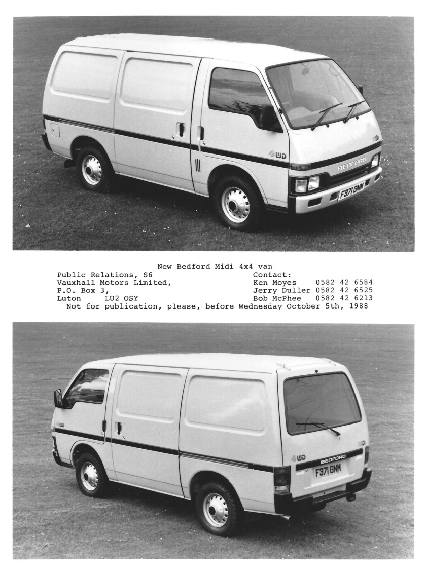 1988 bedford midi 4x4