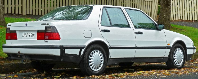 1994–1997 Saab 9000 CD 2.3t sedan (Australia) rear
