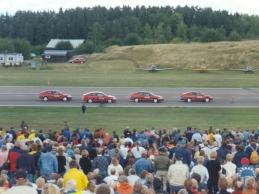 1997 Saab Performance Team at Linköping (Saab 91 Safirs in background)