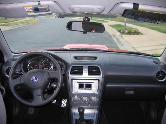 2005 Saab 9-2X Aero dasboard