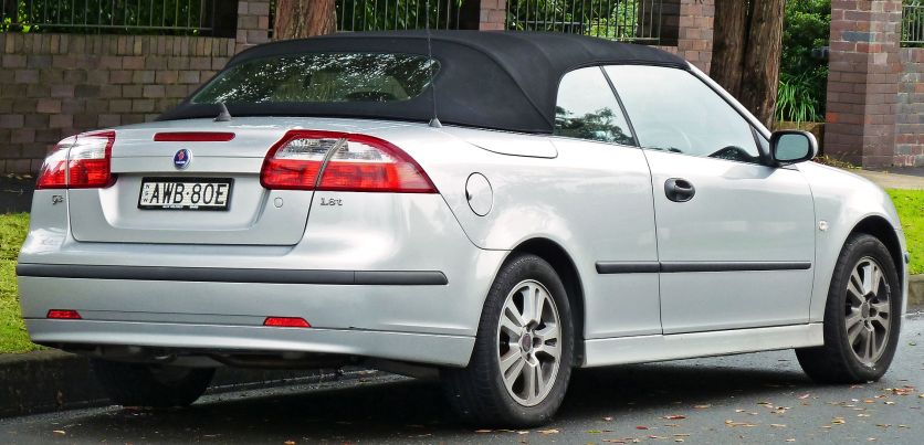 2005–2006 Saab 9-3 Linear 1.8t convertible