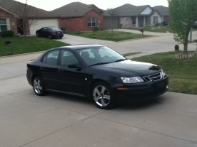 2006 Saab 9-3 2.0T with chrome Aero wheels
