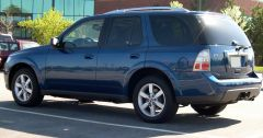 2006 Saab 9-7X blue rear