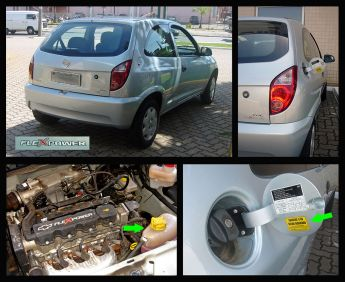 2008 Brazilian Chevrolet Celta FlexPower four views
