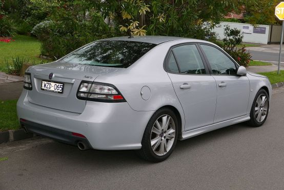 2009 Saab 9-3 (MY08) Aero 2.8T sedan rear
