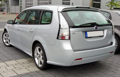2009 Saab 9-3 SportCombi II Facelift 1.9 TTID 20090620 rear