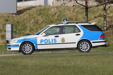 2012 Saab 9-5 Aero with the Swedish Police